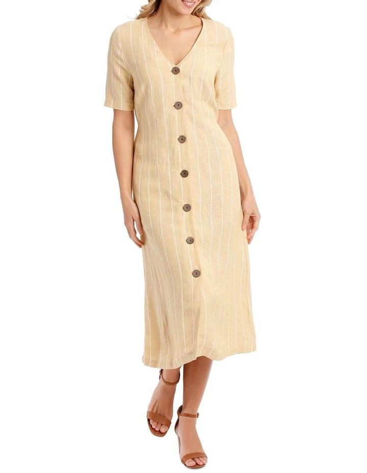 V Neck Button Front Dress image 5