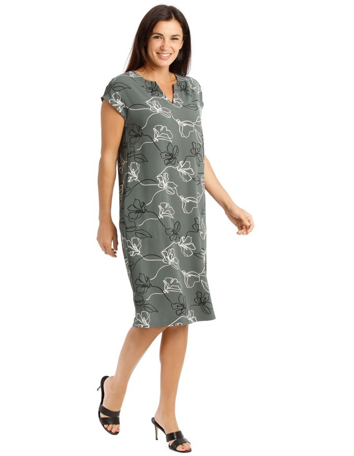 Extended Sleeve Dress With Split Neck image 2