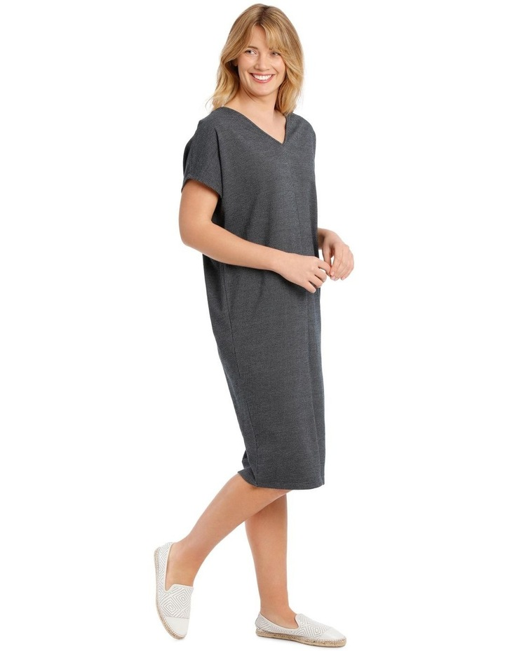 Extended Short Sleeve V-Neck Knit Dress image 2
