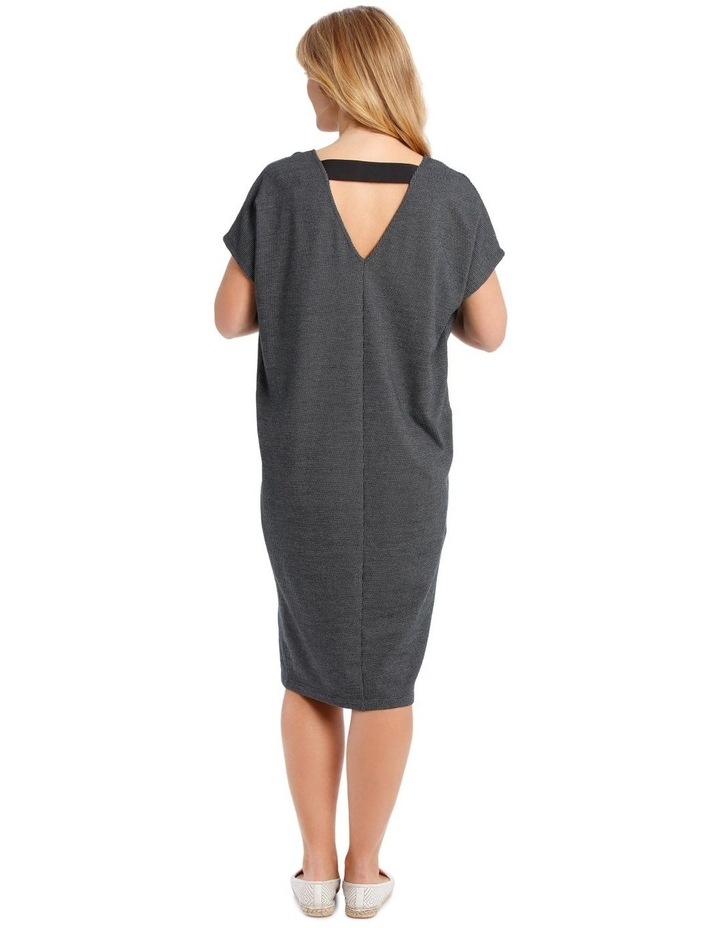 Extended Short Sleeve V-Neck Knit Dress image 3