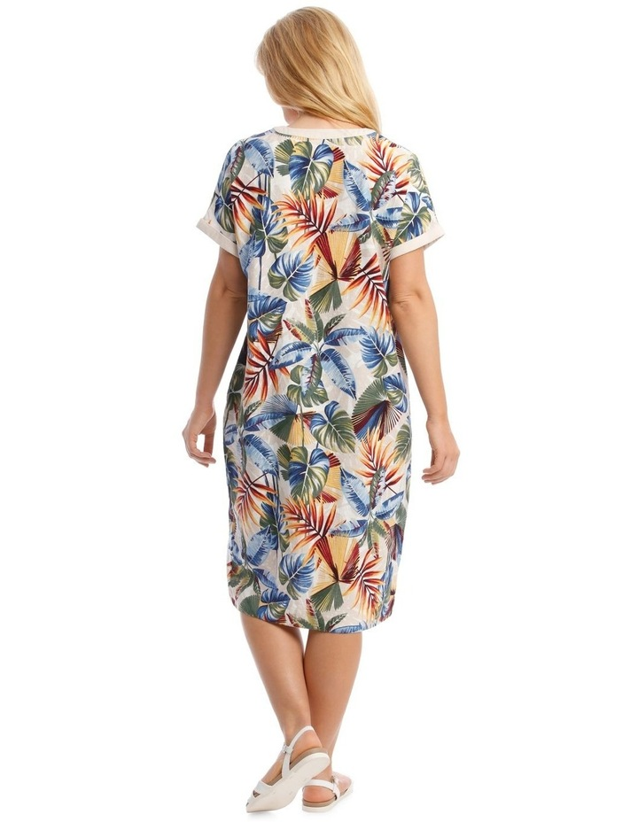 Extended Sleeve Dress With Contrast Trim image 3
