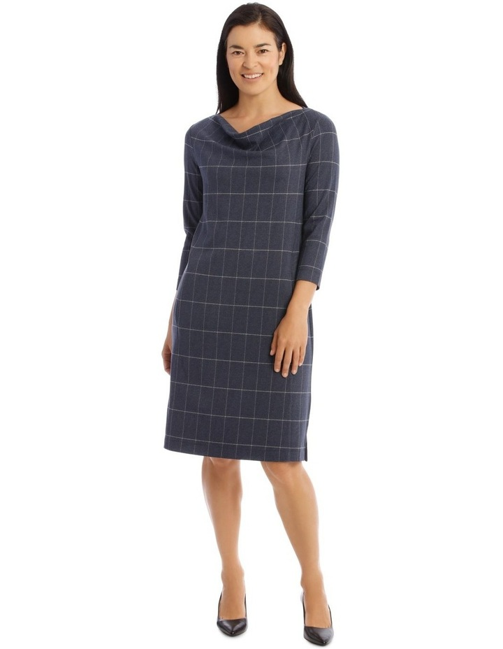 3/4 Sleeve Split Neck Dress image 1