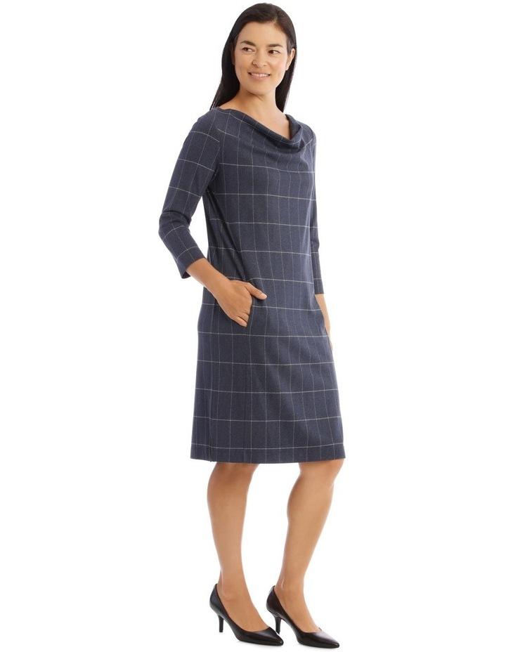 3/4 Sleeve Split Neck Dress image 2