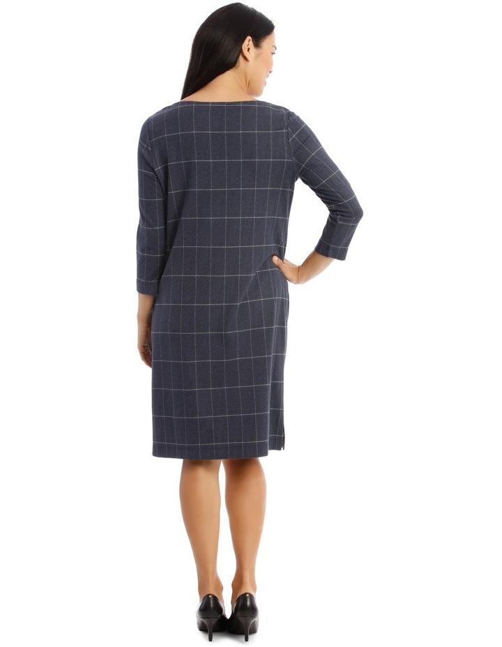 3/4 Sleeve Split Neck Dress image 3