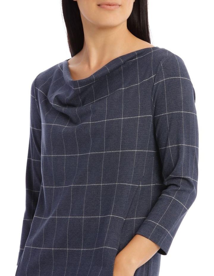 3/4 Sleeve Split Neck Dress image 4