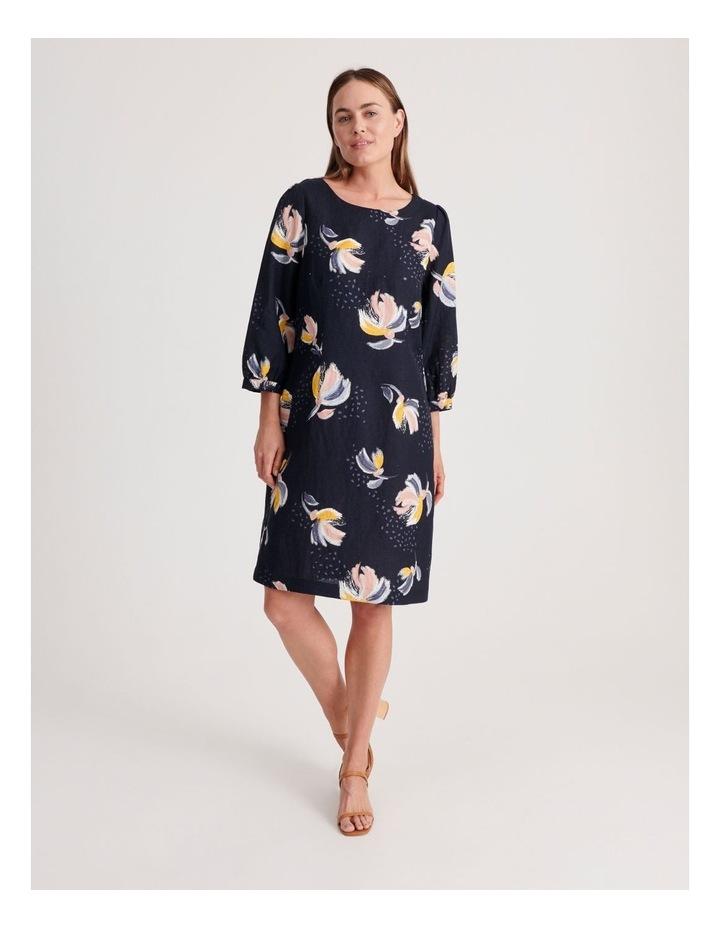 3/4 Sleeve Linen Blend Dress image 1