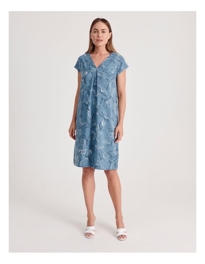 Front and Back V-Neck Short Sleeve Dress image 1