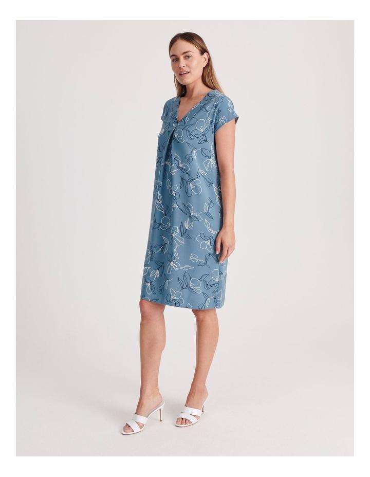 Front and Back V-Neck Short Sleeve Dress image 2