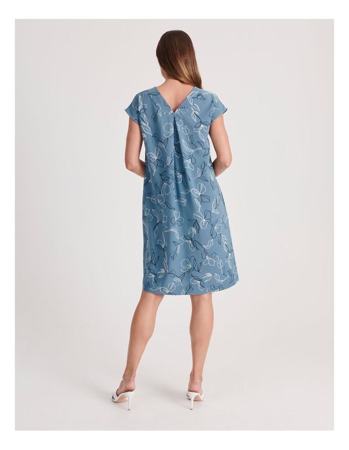 Front and Back V-Neck Short Sleeve Dress image 3