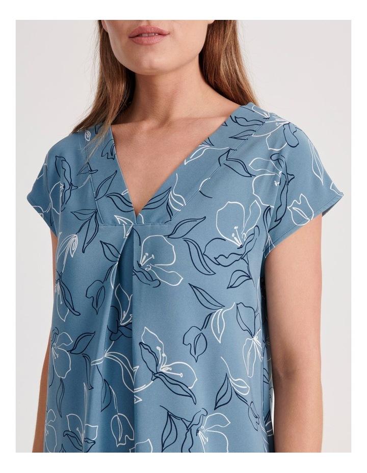 Front and Back V-Neck Short Sleeve Dress image 4