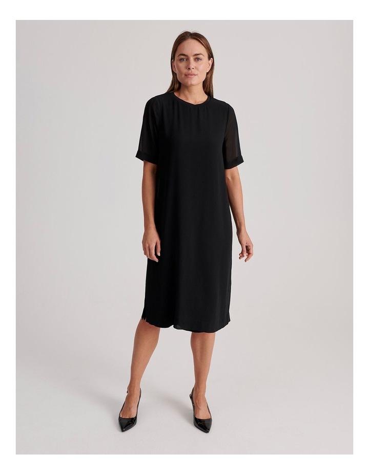 Short Sleeve Sheer Dress image 1