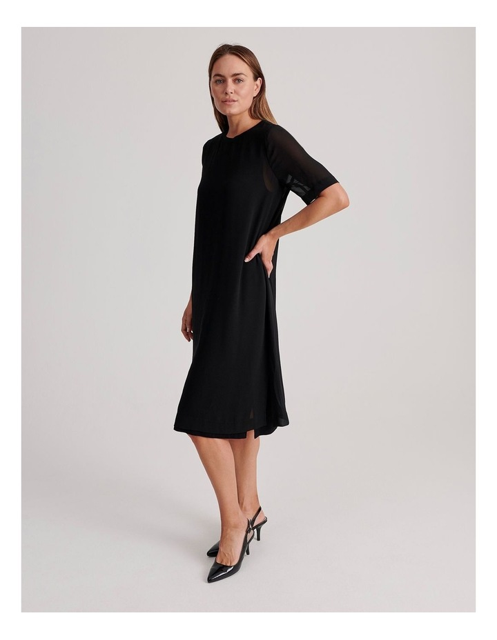 Short Sleeve Sheer Dress image 2