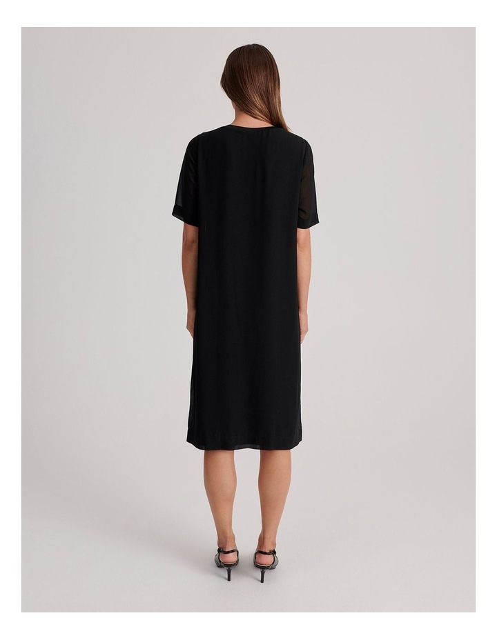 Short Sleeve Sheer Dress image 3
