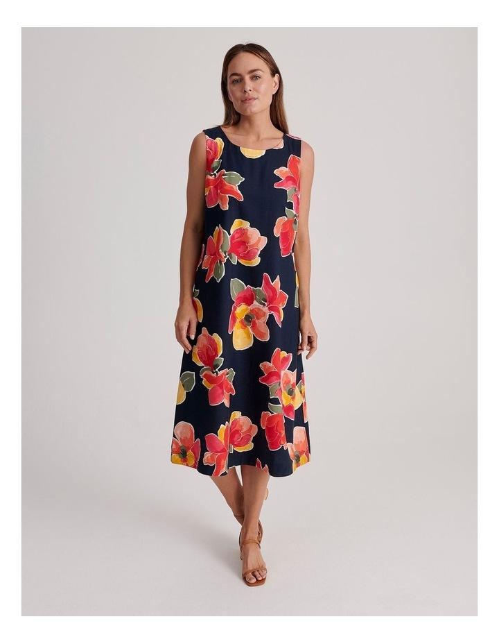 Sleeveless Linen Blend Midi Dress image 1