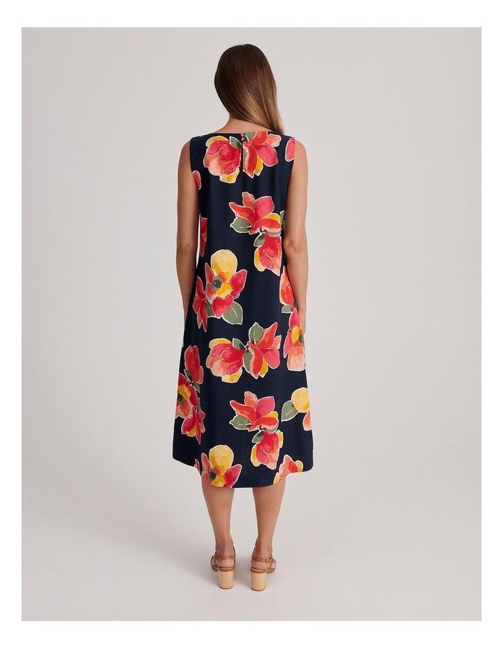 Sleeveless Linen Blend Midi Dress image 3