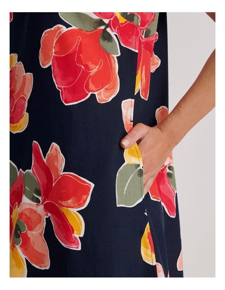 Sleeveless Linen Blend Midi Dress image 4