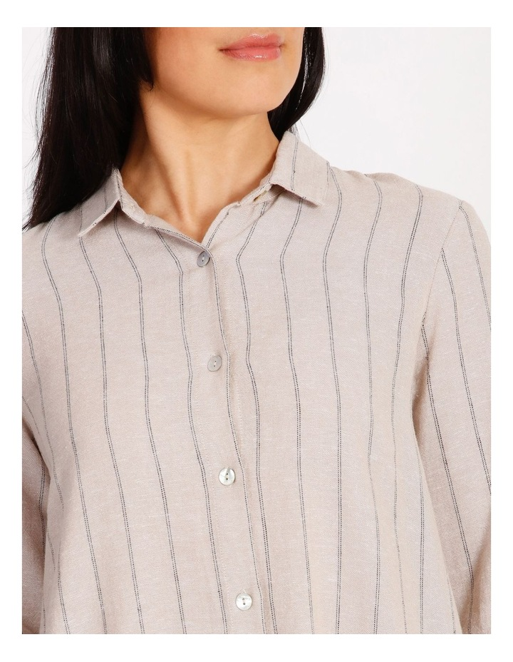Etched Short Sleeve Button Front Shirt Dress image 4