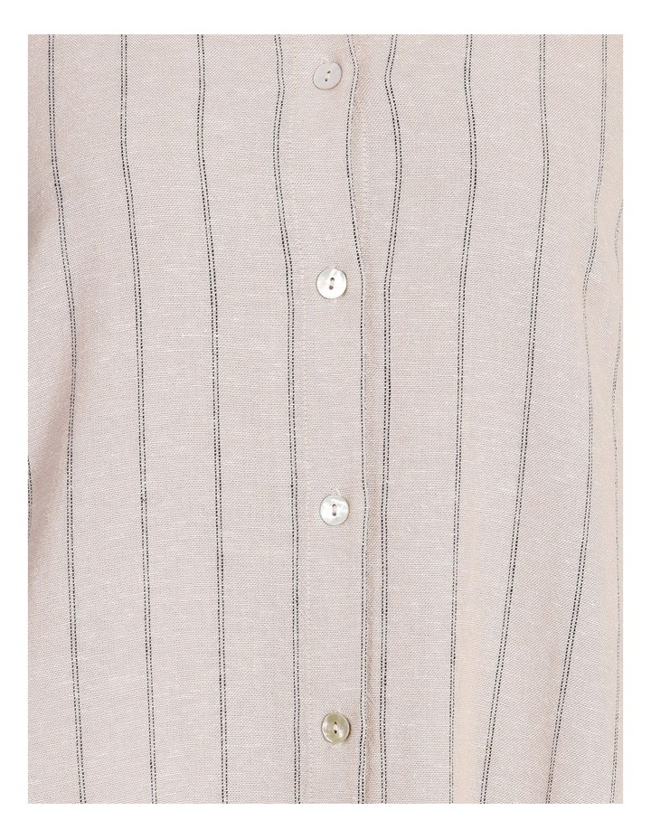 Etched Short Sleeve Button Front Shirt Dress image 6