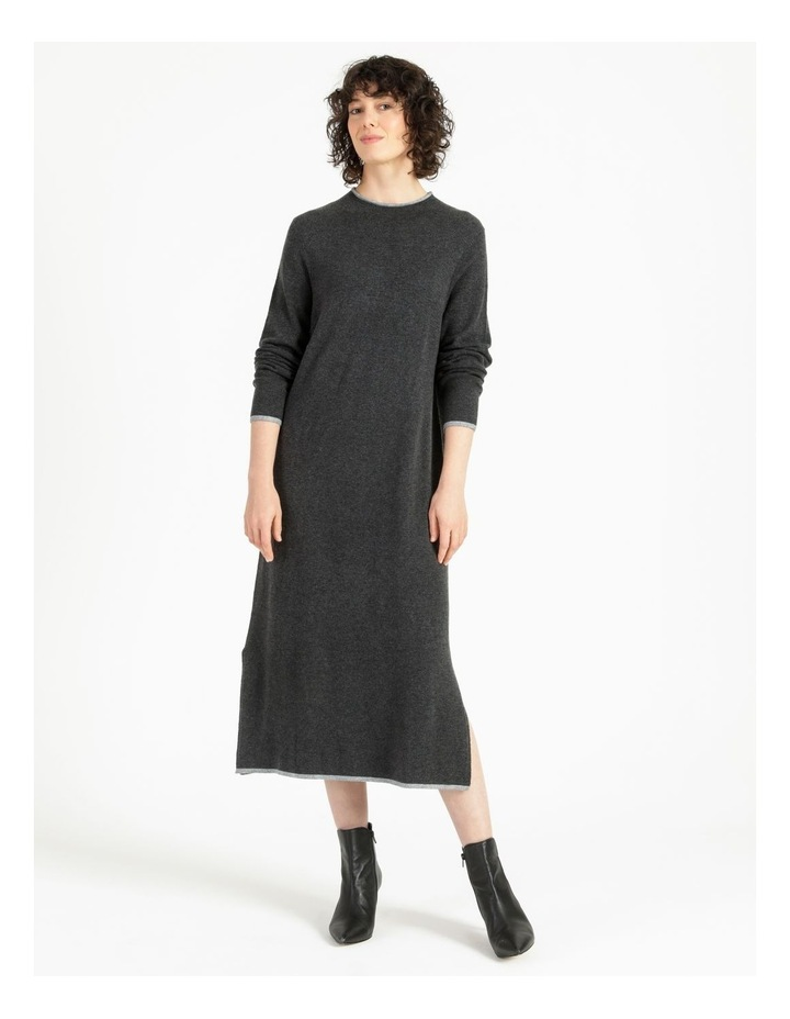 Jumper Dress With Contrast Tipping image 1