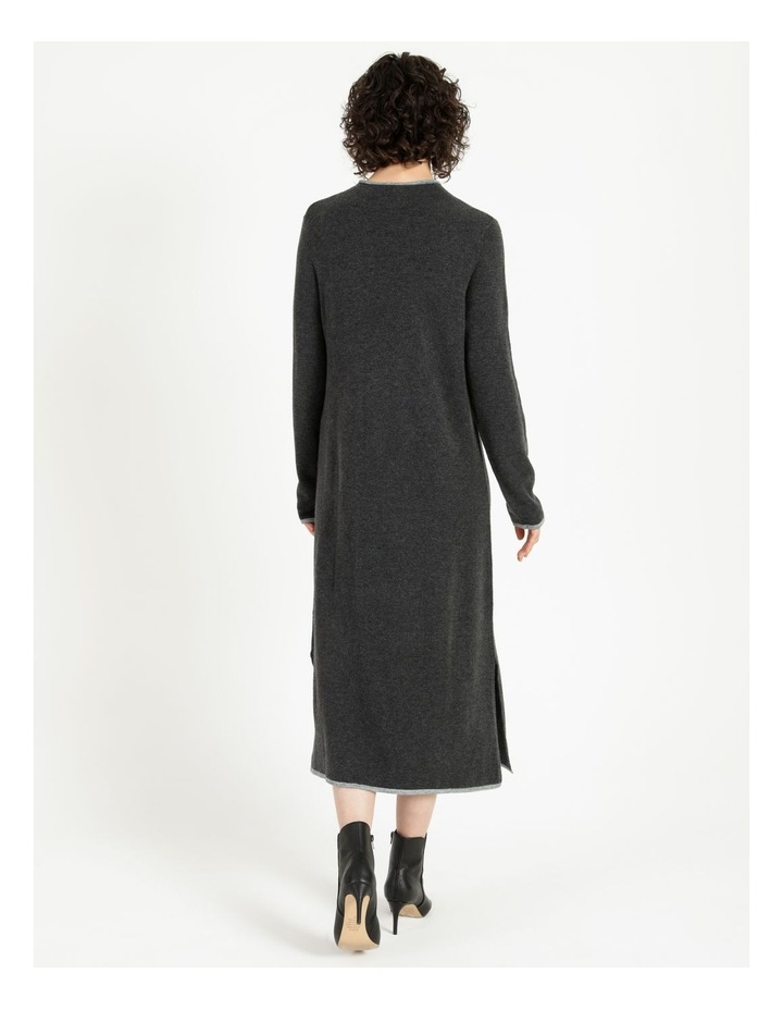Jumper Dress With Contrast Tipping image 3