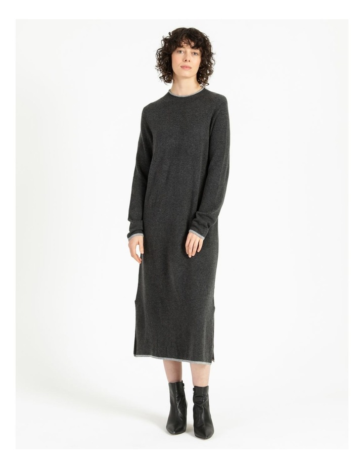 Jumper Dress With Contrast Tipping image 4