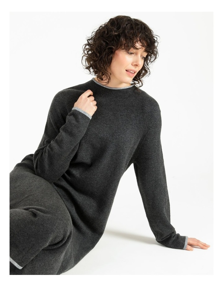 Jumper Dress With Contrast Tipping image 5