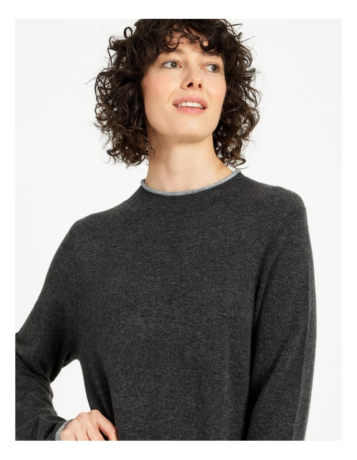 Jumper Dress With Contrast Tipping image 6