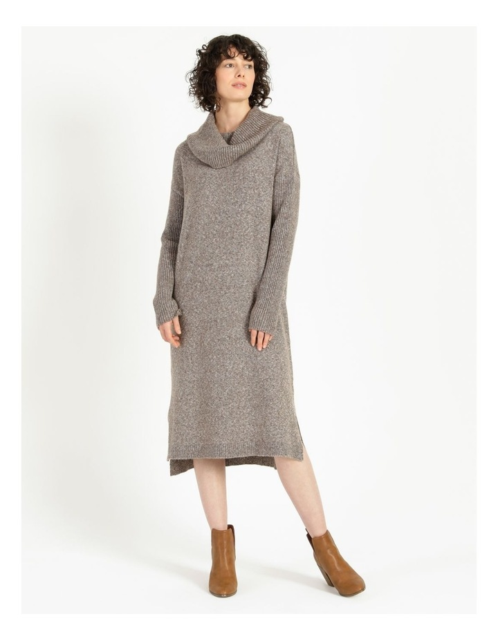 Jumper Dress With Cowl Neck image 1