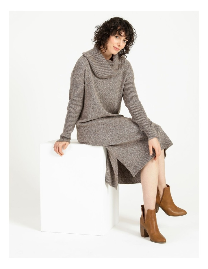 Jumper Dress With Cowl Neck image 2