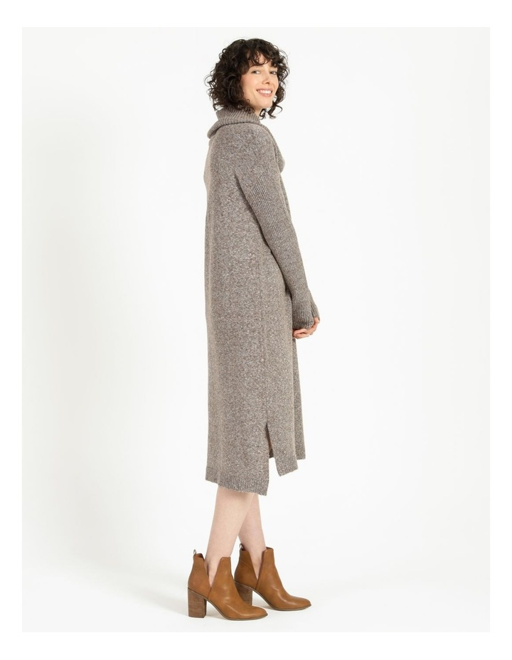 Jumper Dress With Cowl Neck image 3