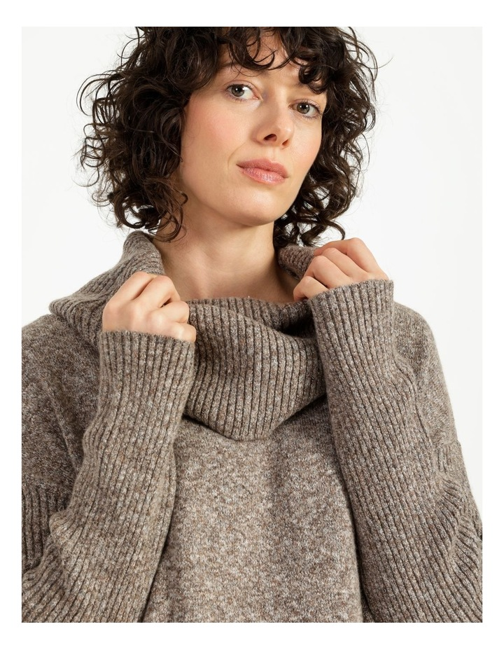 Jumper Dress With Cowl Neck image 5