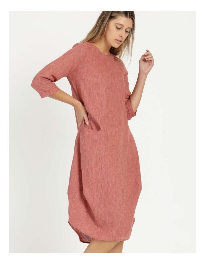 Baked Asymmetrical Dress Pink image 1