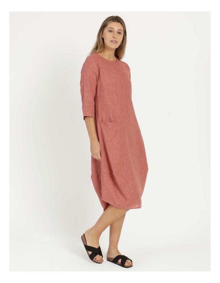Baked Asymmetrical Dress Pink image 3