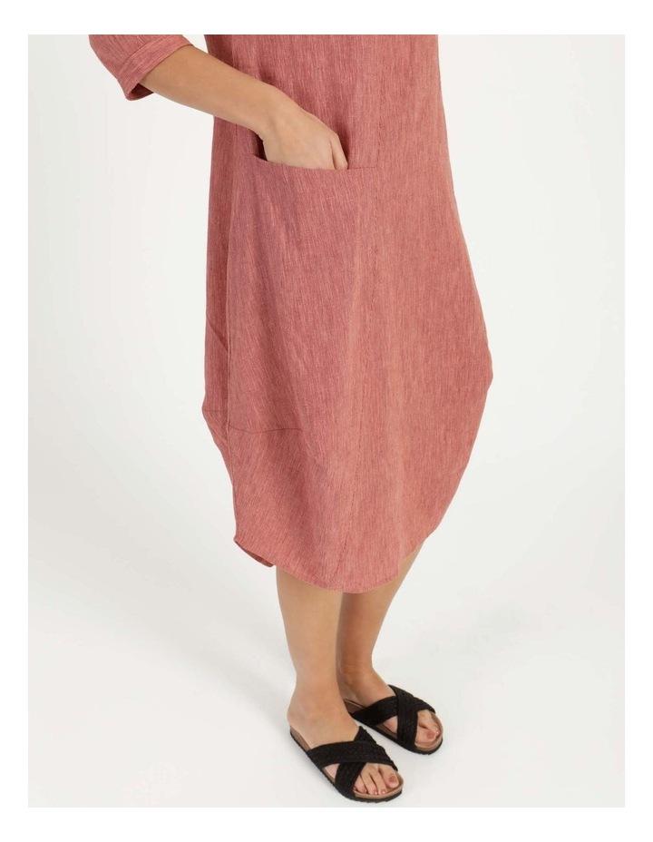 Baked Asymmetrical Dress Pink image 6