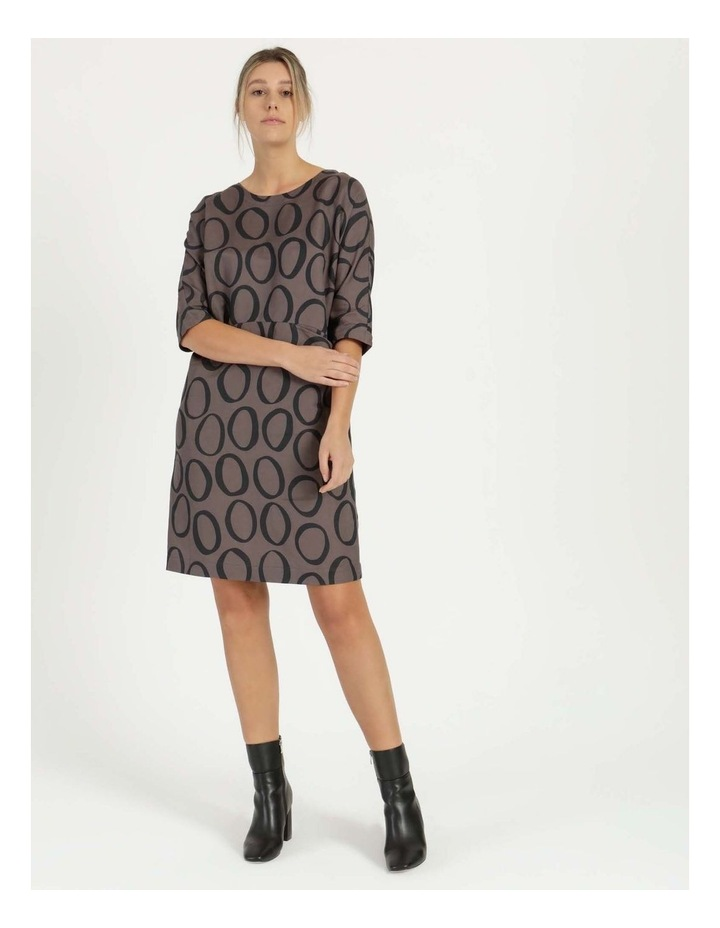 Grey Ring Print Asymmetrical Dress image 2