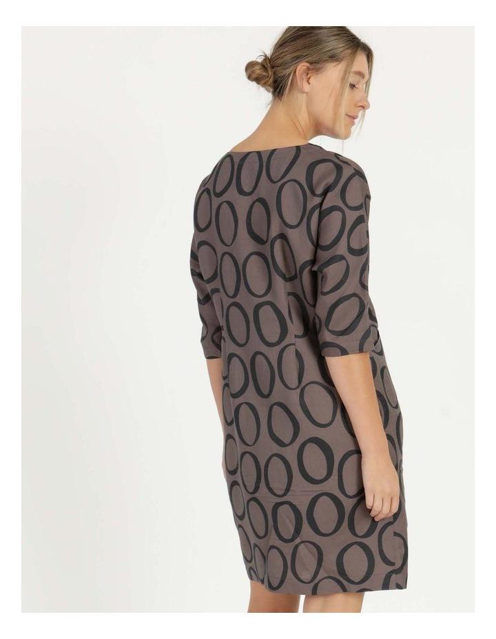 Grey Ring Print Asymmetrical Dress image 4