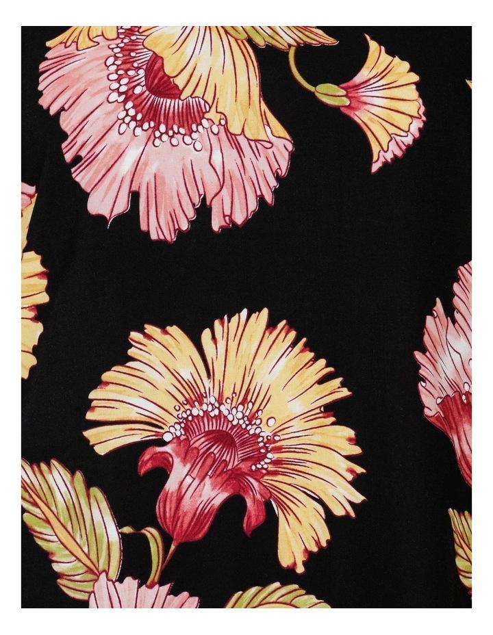Sleeveless Midi Length Dress Black Big Floral image 7