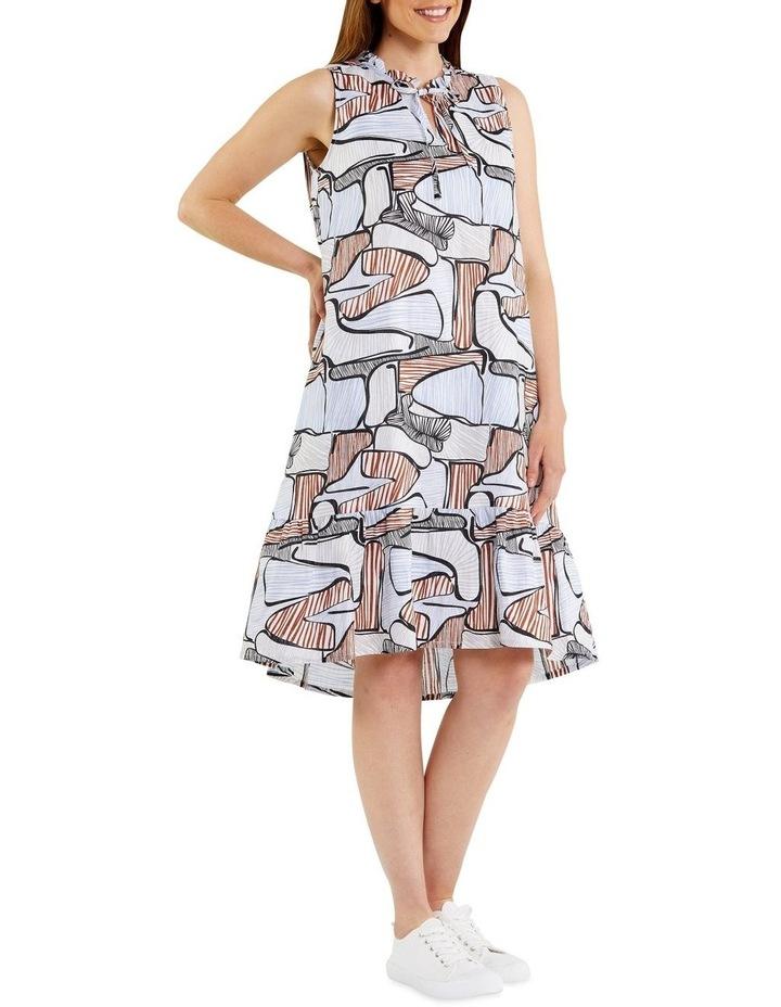 Puzzle Print Dress image 2