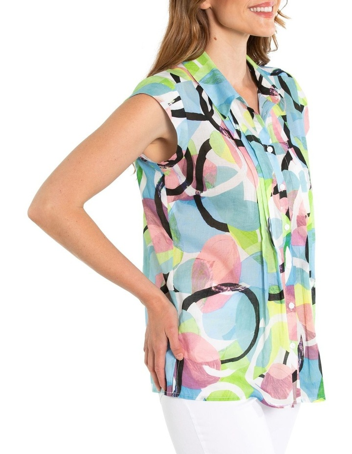 Short Sleeve Pintuck Print Shirt image 2