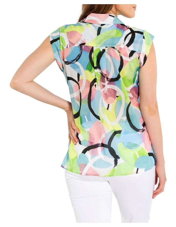 Short Sleeve Pintuck Print Shirt image 3