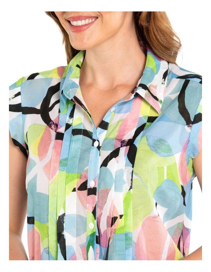 Short Sleeve Pintuck Print Shirt image 4