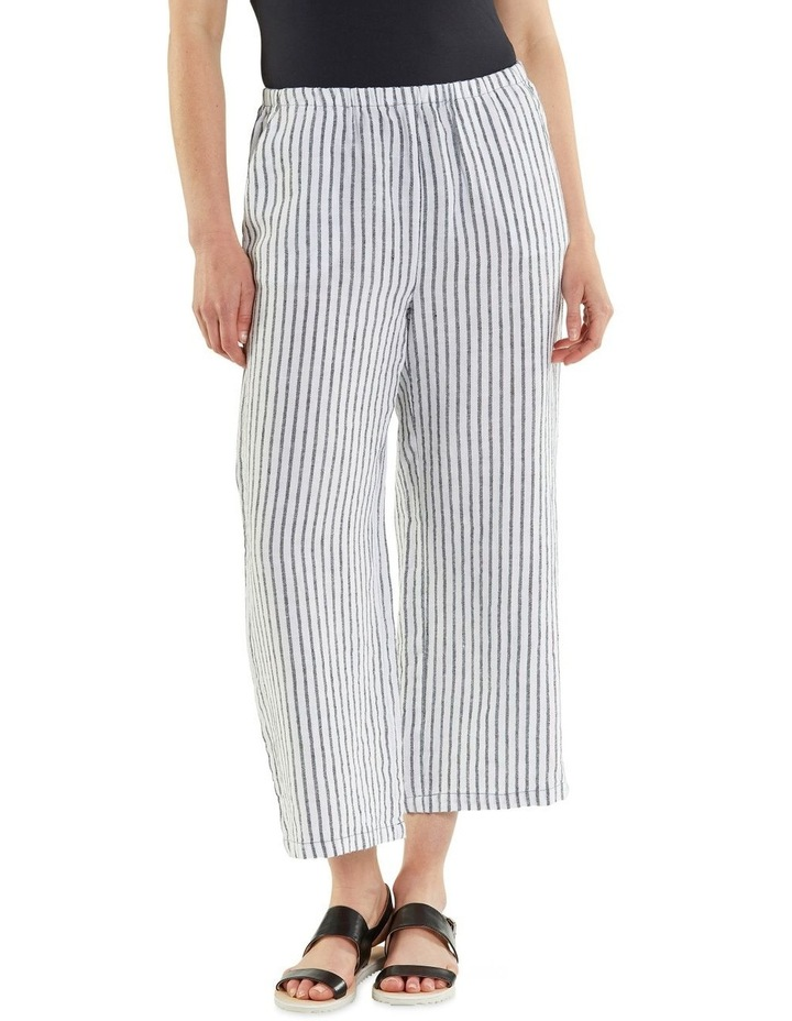 Cropped Textured Stripe Pant image 1