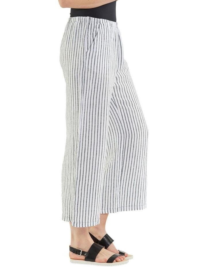 Cropped Textured Stripe Pant image 2