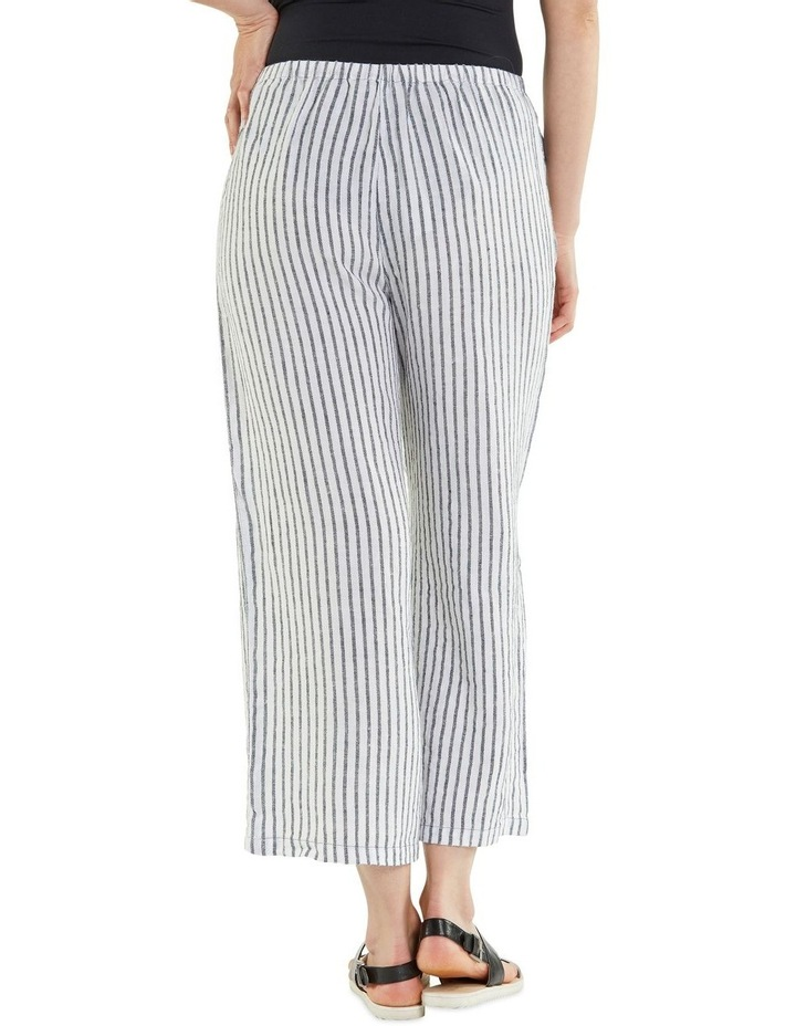 Cropped Textured Stripe Pant image 3