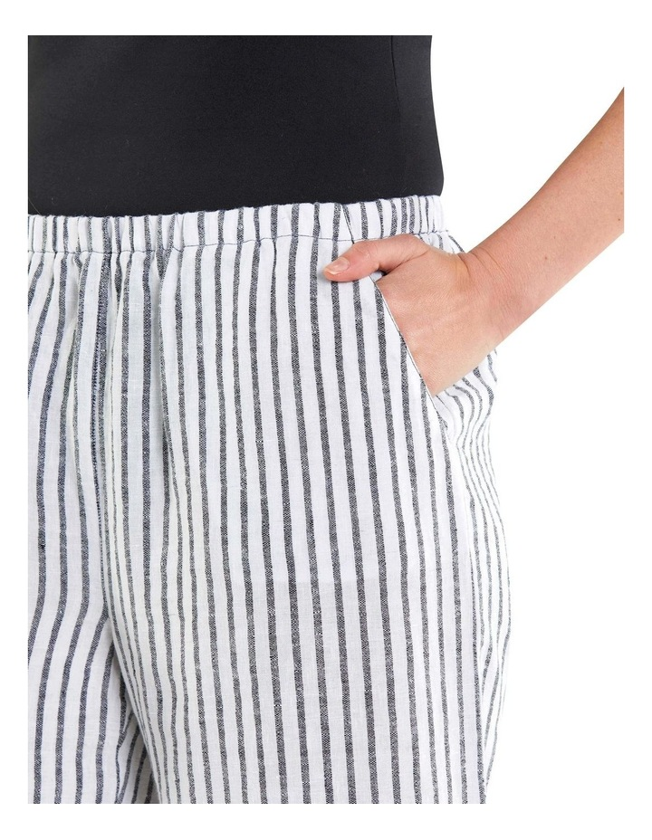 Cropped Textured Stripe Pant image 4