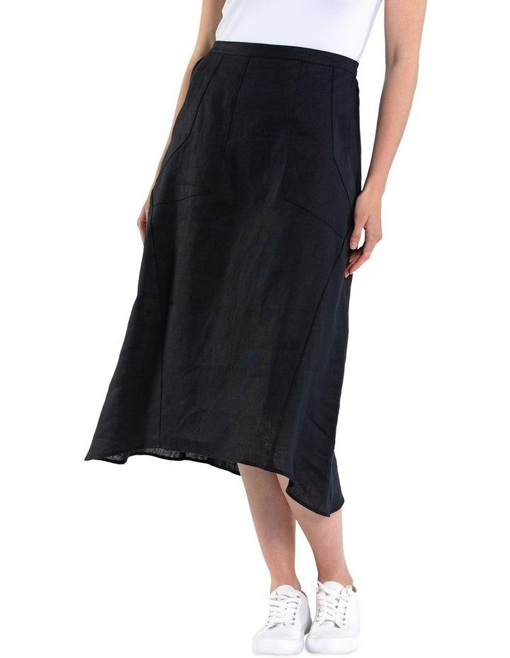 Flared Linen Skirt image 1