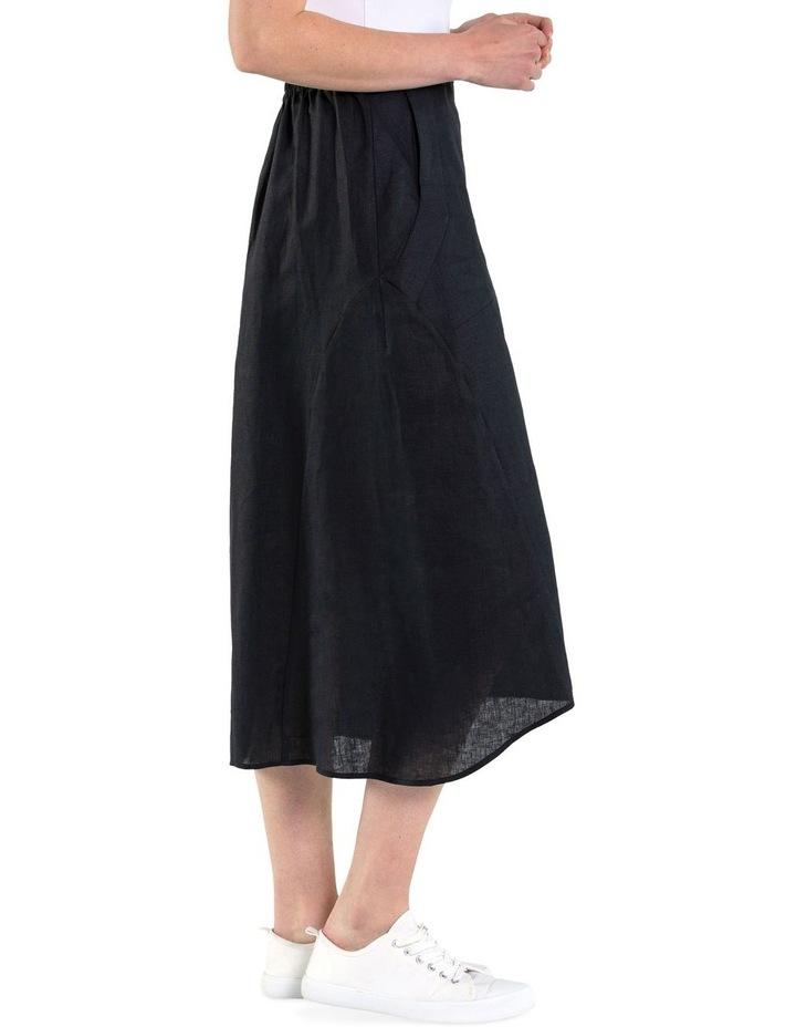 Flared Linen Skirt image 2