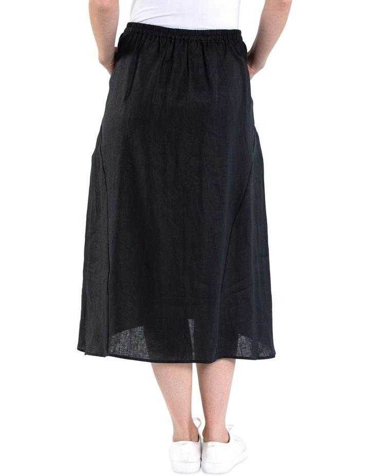 Flared Linen Skirt image 4