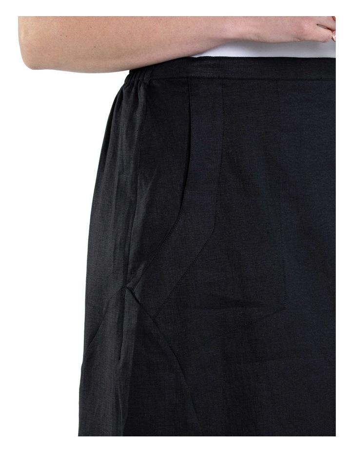 Flared Linen Skirt image 5