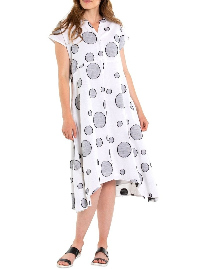 Short Sleeve Dobby Print Dress image 1